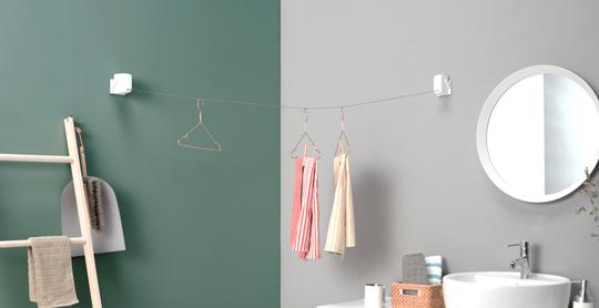 斜めがけが可能な室内干しロープが登場!【STOKlaundry】