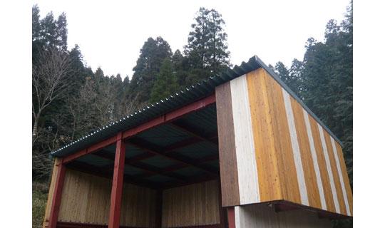 施工例のご紹介 木質集成板と塗装