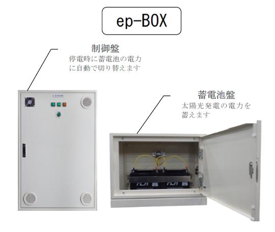 太陽光を充電して緊急時に切り替える!『ep-BOX』