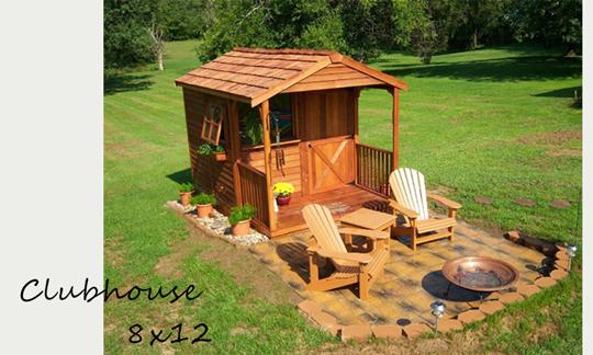 """レッドシダーで出来た木製小屋キット""""CEDARSHED"""""""