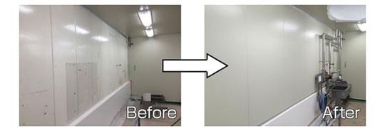 改修パネル「ハレルヤン」、光触媒プレコート断熱パネルのご紹介。