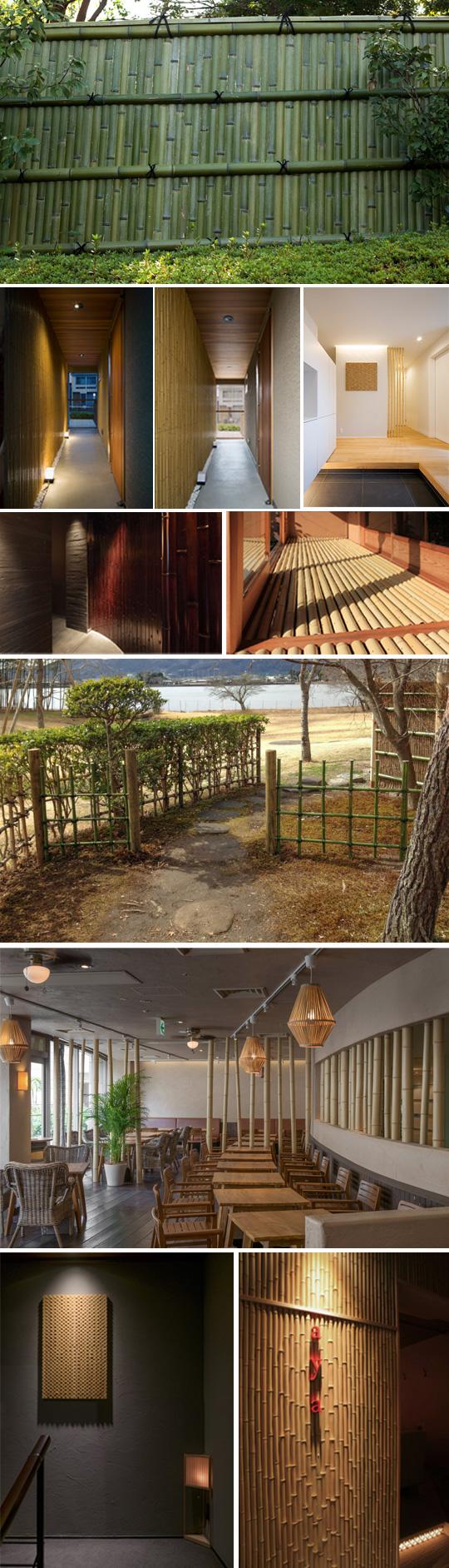 熟練の手を加えた竹で造られた様々な施工例をご紹介。