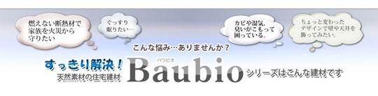 天然素材の住宅建材~Baubioバウビオ~シリーズ