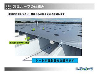 金属折板屋根専用 遮熱システム「冷えルーフ」