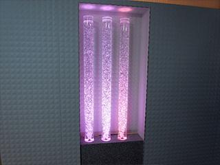 【ウォーターエアスクリーン】気泡と光の組合せ