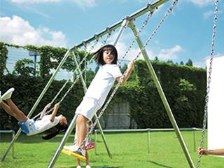 【公園・教育施設向け】ステンレス遊具 (ブランコ、雲梯、ジャングルジム、鉄棒)