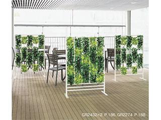 パネルパーテーション【グリーンスタンド】仕切り感を増したい空間向けのトールタイプと全面タイプ