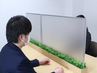 卓上ポット【グリーンポット】 飛沫感染対策の卓上間仕切りポット