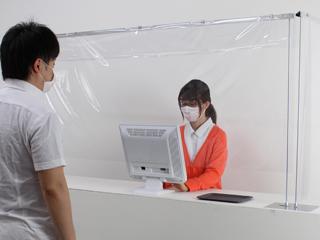 卓上パーテーション・ビニール【アルモード】 飛沫防止対策のビニールシート用卓上間仕切り