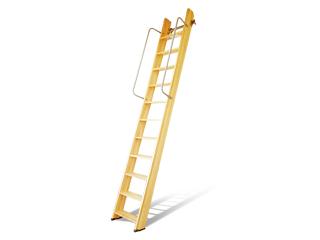 国産【セーフティーラダー】 木製ロフトはしご