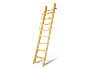 カラー対応【カスタムラダー】 木製ロフトはしご