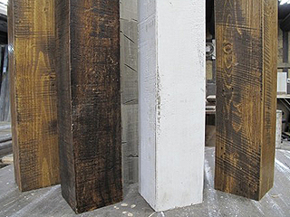 【フェイクビンテージビーム】柱、梁ハンドヒューンレス加工(ナタ傷なし)不燃対応可能