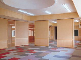 木製学校間仕切移動式【プレウォールSAW105AS】