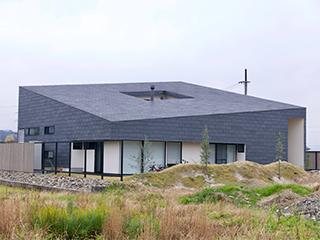 天然スレート 屋根・壁 一体