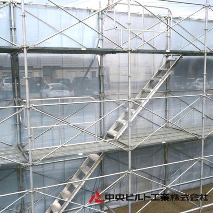 アルミ製ステップガード(階段開口部手摺)