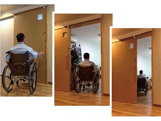 ★後付自動ドア化装置★<br> ベンリードアロボ【介護・医療施設向け】