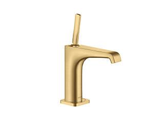 アクサーチッテリオE シングルレバー洗面混合水栓 125(ポップアップ引棒無)ブラッシュドゴールドオプティック