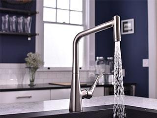 メトリス シングルレバー引出式キッチンシャワー混合水栓220