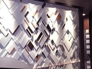 天井や壁面、什器まで多様な展開が可能「Dimple Shade オーダー」