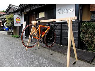 桧の自転車ラック