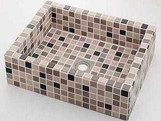 陶磁器タイプ洗面ボウル・493-143-BM ブラウンミックス