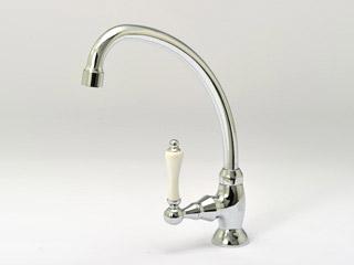 JODEN水栓金具 ビクトリアシリーズ 1PLVS<br> キッチン用グースネック単水栓 【クロム】
