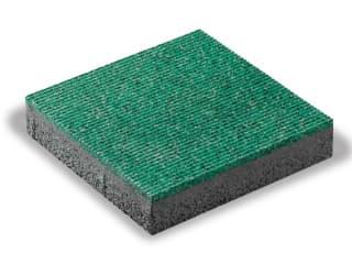 ウレタンカラーゴムチップ舗装材『ISO-RUBBER STRIPE』