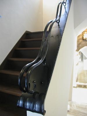 ロートアイアン内部階段・吹き抜け手摺