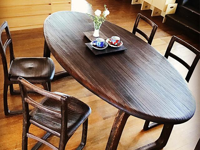 桐ダイニングテーブル&チェア