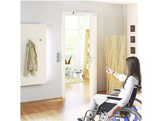 非接触・タッチレス自動ドア開閉装置 ECturn