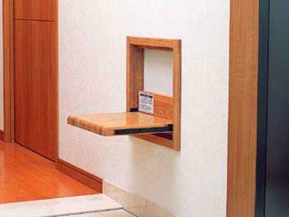 壁収納・開閉式椅子【アシストチェア】