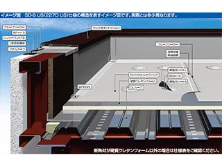 金属下地屋根断熱防水工法「SD-S・EZ仕様」