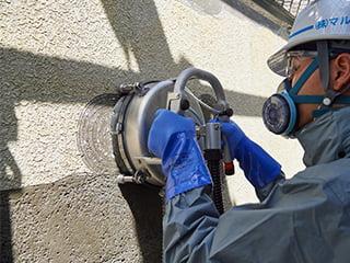 ウォータークリーン工法(集塵装置付超高圧水洗工法)