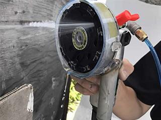 ウォータークリーンSG工法<(湿式)集塵装置付きグラインダー工法>