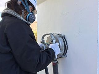 ウォータークリーンM工法<集塵装置付き水洗工法>