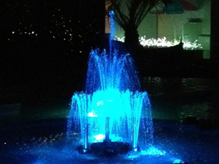 フルカラー自動噴水