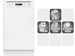 Mieleビルトイン食器洗い機 G 4720 SCU*/SCi** (45cm幅)