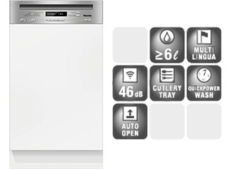 Mieleビルトイン食器洗い機 G 4820 SCU*/SCi** (45cm幅)