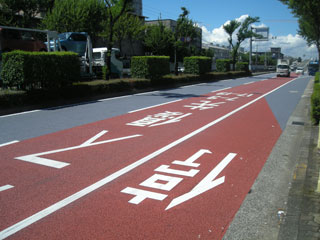 舗装道路の暑さ対策 遮熱塗料【ミラクール】