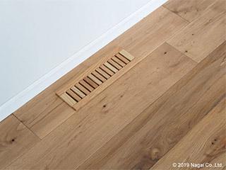 基礎断熱住宅に…木製「床がらり」