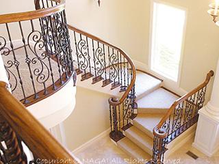 美しい曲線が優美なオーク階段材 フィッツ fitts