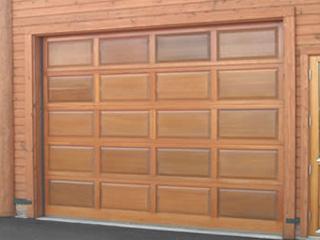 電動木製ガレージドア「ウッデイ」 レイズドタイプ