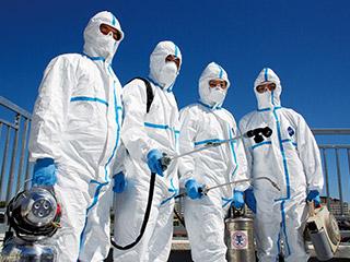 新型コロナウイルス殺菌消毒工事