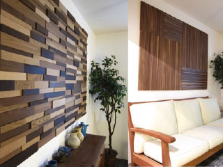 WOOD BRICKWALL PANEL