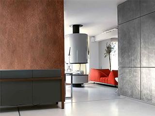 意匠性の高い内外装用塗材「ピューロメタロ」