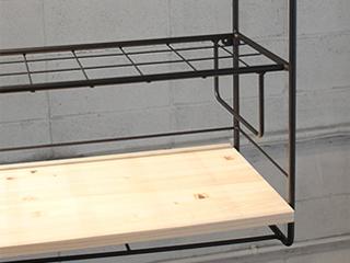 YOR-1576ーM ヨークキッチン吊り棚 メッシュ棚+木板1段仕様