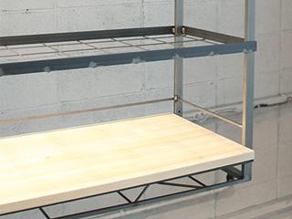 MUK-1560M ムクキッチン吊り棚 メッシュ棚+木板1段仕様