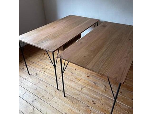金物脚無垢テーブル