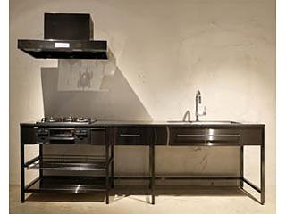 ekreaブラックフレームキッチン