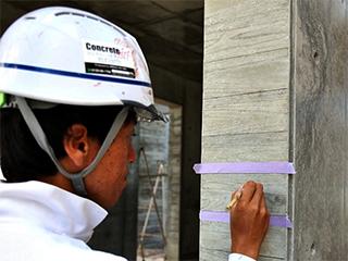 コンクリートアートシリーズ<br> 【杉板型枠コンクリート打ち放し・部分復元美装リペア】